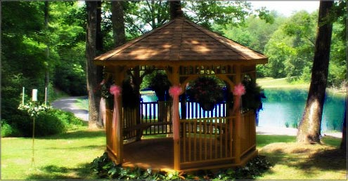 Lakeside Gazebo Caney Creek Cabin Rental